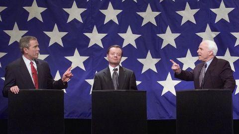 Then Republican presidential nomination hopefuls George W. Bush, Gary Bauer and John McCain debated in Durham, North Carolina in 2000.