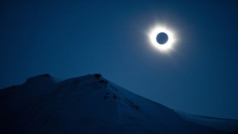 A total solar eclipse can be seen in Svalbard, Longyearbyen, Norway, on March 20, 2015. A partial eclipse of varying degrees is visible, depending on weather conditions, across most of Europe, northern Africa, northwest Asia and the Middle East, before finishing its show close to the North Pole.