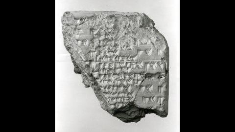 Cuneiform tablet from Mesopotamia describing an eclipse.
