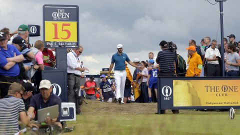 World No.1 Dustin Johnson shot 64, the second lowest round of the day, but still found himself eight adrift after two lackluster opening rounds.