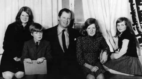 Diana, far right, is photographed with her father, John, and her three siblings circa 1970. Sarah is on the far left and Jane is next to Diana. When Diana was 7 years old, her parents divorced and her father was given custody of the children.