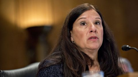 Elaine Duke, deputy secretary of U.S. Homeland Security (DHS) nominee for President Donald Trump, speaks during a Senate Homeland Security and Governmental Affairs Committee confirmation hearing in Washington, D.C., U.S., on Wednesday, March 8, 2017. Duke, with over 28 years of experience with the federal government including DHS's undersecretary for management, was nominated by Trump on Jan. 30.