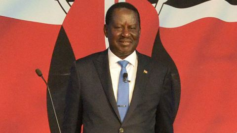 Kenya's National Super Alliance (NASA) opposition leader and presidential candidate Raila Odinga poses during a presidential debate in Nairobi.