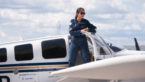 Shaesta Waiz arrives in Montreal on May 15 on the third leg of her round-the-world solo flight.