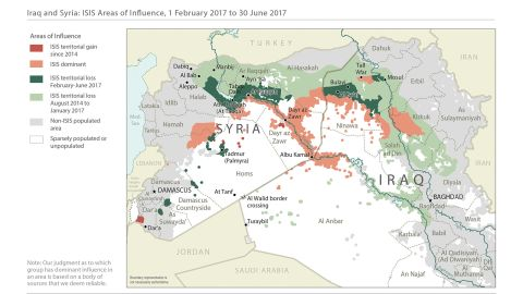 State Department map showing territory lost by ISIS