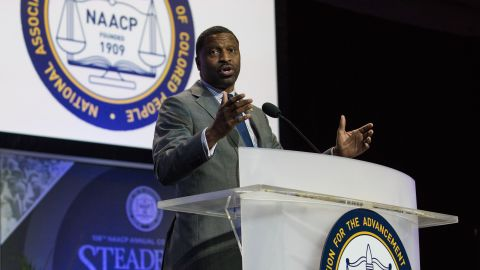 NAACP Interim President Derrick Johnson, speaks at the NAACPs 108th Annual Convention on July 24.