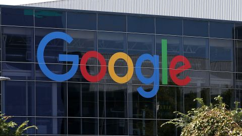 MOUNTAIN VIEW, CA - SEPTEMBER 02:  The new Google logo is displayed at the Google headquarters on September 2, 2015 in Mountain View, California.  Google has made the most dramatic change to their logo since 1999 and have replaced their signature serif font with a new typeface called Product Sans.  (Photo by Justin Sullivan/Getty Images)