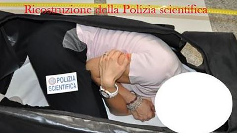 Police reconstructed the British model's kidnapping.