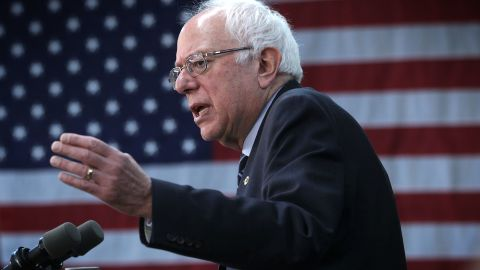 MANCHESTER, IA - JANUARY 30:  Democratic presidential candidate Sen. Bernie Sanders (I-VT) speaks during a campaign rally at the Delaware County Fairgrounds January 30, 2016 in Manchester, Iowa. Sanders continued to seek for support for the Democratic nomination prior to the Iowa caucus on February 1.  (Photo by Alex Wong/Getty Images)
