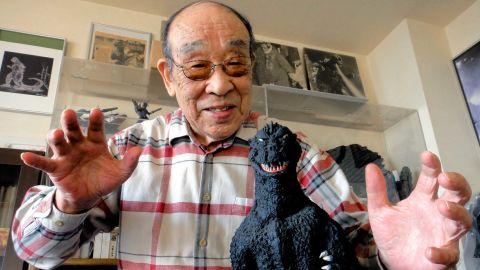 Actor Haruo Nakajima photographed on December 3, 2013 in Japan.