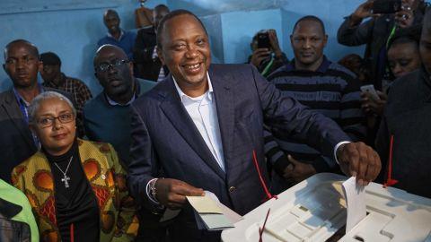 Kenya's incumbent  President Uhuru Kenyatta is seeking a second term.