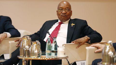 HAMBURG, GERMANY - JULY 07:  President Jacob Zuma attends the G20 leaders retreat as part of the G20 summiton July 7, 2017 in Hamburg, Germany.