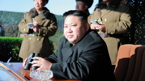 """This undated photo released by North Korea's official Korean Central News Agency (KCNA) on December 11, 2016 shows North Korean leader Kim Jong-Un (C) during a combat drill of the service personnel of the special operation battalion of the Korean People's Army Unit 525.     / AFP / KCNA VIA KNS / KNS / South Korea OUT / REPUBLIC OF KOREA OUT   ---EDITORS NOTE--- RESTRICTED TO EDITORIAL USE - MANDATORY CREDIT """"AFP PHOTO/KCNA VIA KNS"""" - NO MARKETING NO ADVERTISING CAMPAIGNS - DISTRIBUTED AS A SERVICE TO CLIENTS THIS PICTURE WAS MADE AVAILABLE BY A THIRD PARTY. AFP CAN NOT INDEPENDENTLY VERIFY THE AUTHENTICITY, LOCATION, DATE AND CONTENT OF THIS IMAGE. THIS PHOTO IS DISTRIBUTED EXACTLY AS RECEIVED BY AFP.   /         (Photo credit should read KNS/AFP/Getty Images)"""