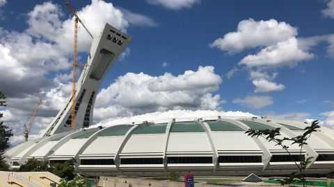 The stadium that brought together countries in the 1976 Olympics is now temporary housing for asylum seekers.