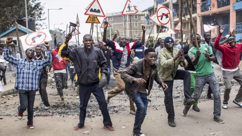 Brief sporadic opposition protests emerged Wednesday after Odinga's allegations of election tampering.