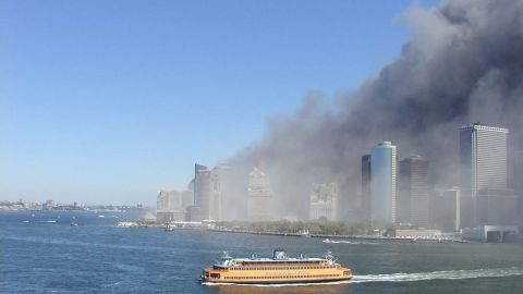 When terrorists struck the World Trade Center on September 11, 2001, a variety of vessels in New York Harbor evacuated people from the stricken part of Manhattan. Staten Island Ferries like the one shown here made runs back and forth to Manhattan all day, evacuating more than 50,000 people.