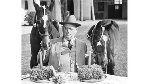 """W.K. Kellogg, shown in 1940, was a successful industrialist who """"revolutionized mass production of food,"""" starting with Corn Flakes."""