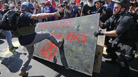 """White nationalists, neo-Nazis and members of the """"alt-right"""" clash with counterprotesters."""