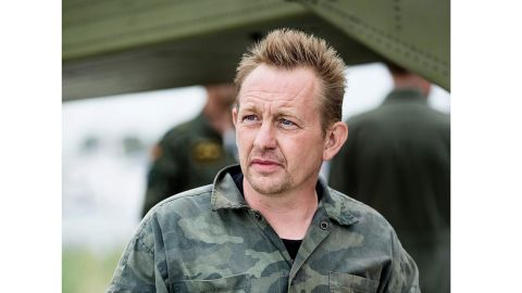"""Peter Madsen, builder and captain of the private submarine """"UC3 Nautilus,"""" is pictured in Dragoer Harbor south of Copenhagen."""