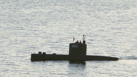 """Swedish journalist Kim Wall is alleged to have stood next to a man in the tower of the private submarine """"UC3 Nautilus"""" on August 10, 2017 in Copenhagen Harbor."""
