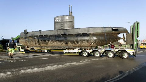 The privately owned submarine, Nautilus, which is the suspected crime scene.
