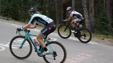 The steep climb known as Moonstone -- located 10,000 feet above sea level -- is the toughest part of the Breckenridge race.