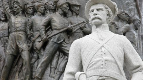 Confederate Memorial, outside the State Capitol Building in Montgomery. (Photo by: Jeffrey Greenberg/UIG via Getty Images)