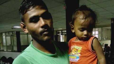 Mohammad Kaimuddin Ansari and his son.