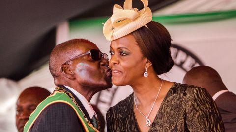 President Robert Mugabe and first lady Grace Mugabe.