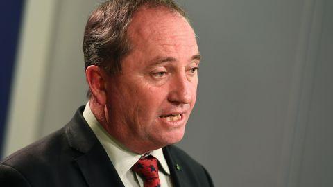 Australia's Deputy PM Barnaby Joyce addresses a press conference in Sydney on July 5, 2016.
