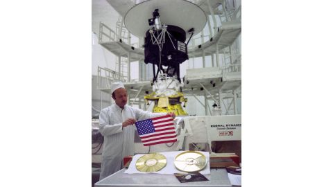NASA's two Voyager spacecraft carry a small American flag and a Golden Record packed with pictures and sounds -- mementos of our home planet.