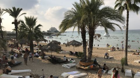 One of the beach resorts in Latakia.