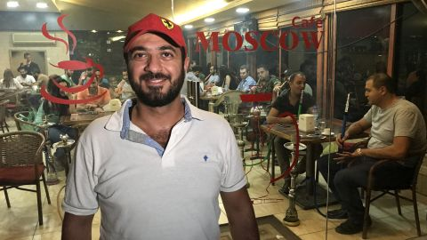 Tarek Shaabo was so pleased that Russia intervened in Syria's civil war that he named his hookah bar Moscow Cafe.