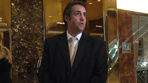Attorney Michael Cohen arrives at Trump Tower for meetings with President-elect Donald Trump on December 16, 2016 in New York.