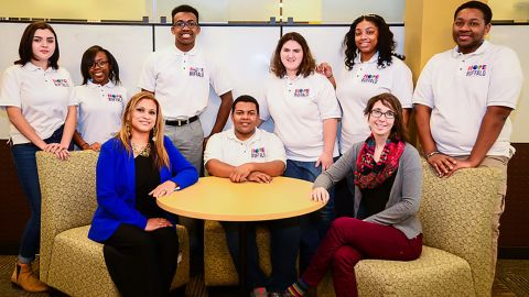 Bryanna Ely, third from the right, with other HOPE Buffalo youth leaders who help organize educational and community programs for teens in their community with a focus on emotional, physical, and sexual health.
