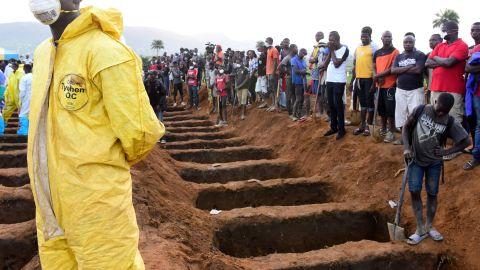 Sierra Leone buried at least 300 victims of devastating floods.