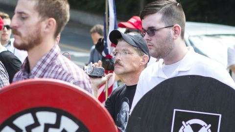 James Fields, right, marched in the Unite the Right rally in Charlottesville.