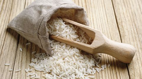 A low temperature and a lack of oxygen appear key to white rice's longevity. The brown version has a shorter shelf life.