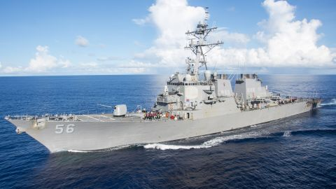 The Arleigh Burke-class guided-missile destroyer USS John S. McCain.