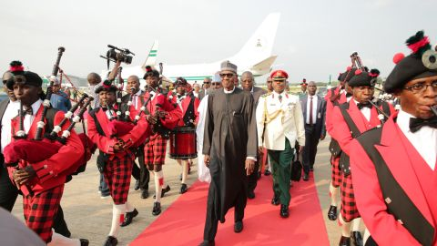 Nigerian President Mohammadu Buhari arrived back in Abuja on August 19 after treatment in London.