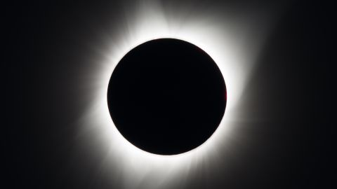 A total solar eclipse is seen on Monday, August 21, 2017 above Madras, Oregon. A total solar eclipse swept across a narrow portion of the contiguous United States from Lincoln Beach, Oregon to Charleston, South Carolina. A partial solar eclipse was visible across the entire North American continent along with parts of South America, Africa, and Europe.