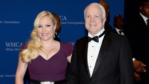 WASHINGTON, DC - MAY 03:  Megan McCain and Senator John McCain attend the 100th Annual White House Correspondents' Association Dinner at the Washington Hilton on May 3, 2014 in Washington, DC.  (Photo by Dimitrios Kambouris/Getty Images)