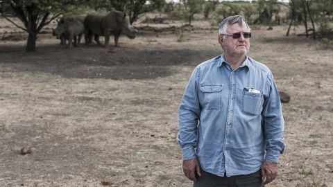 John Hume, pictured at his Johannesburg ranch in 2015, has obtained a permit to sell 264 horns.