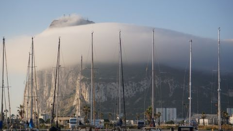 The Rock of Gibraltar put on a spectacular show as Boomerang arrived after following 12 days at sea.