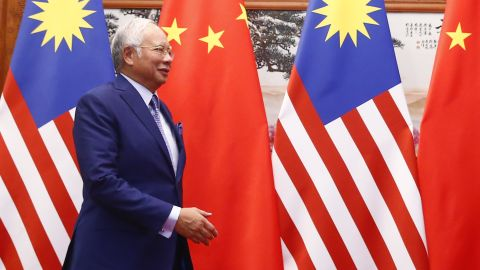 Malaysian Prime Minister Najib Razak at the Great Hall of the People in Beijing on May 13.