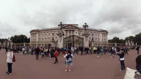 Buckingham Palace is the official residence of Queen Elizabeth II.