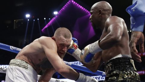 McGregor started running out of steam later in the fight, and Mayweather capitalized in the 10th round.