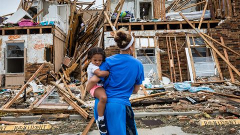 Rockport residents return to their destroyed home.