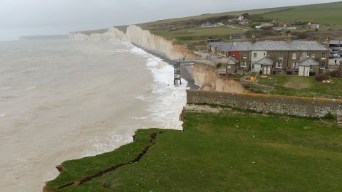 The gas was first reported at Birling Gap near Eastbourne, United Kingdom, pictured here on March 19, 2014.