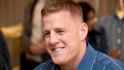 Houston Texans JJ Watt was honored for his work in the community of Houston.